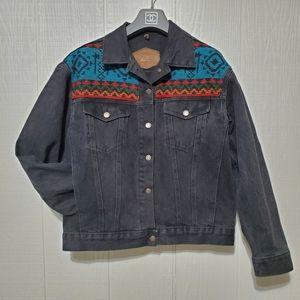 Woolrich Southwestern Aztec Wool and Jean Jacket